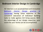 bedroom interior design in cambridge