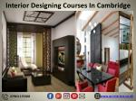 interior designing courses in cambridge