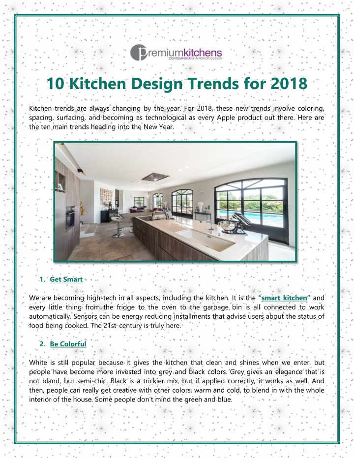 10 kitchen design trends for 2018 n.
