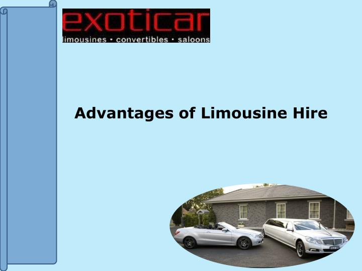advantages of limousine hire n.