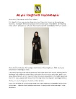 are you fraught with frayed abayas