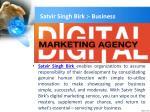 satvir singh birk business