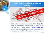 satvir singh birk digital marketing serving