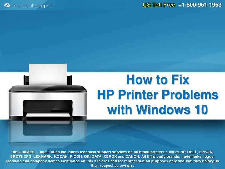 how to fix hp printer problems with windows 10 n.