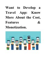want to develop a travel app more about the cost