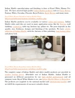 indian marble manufacturing and finishing is done