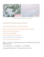 royal white marmo rajasthan indian marble mines 1