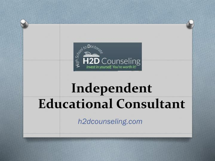 independent educational consultant n.