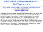 fin 370 genius predictable world fin370genius com 17