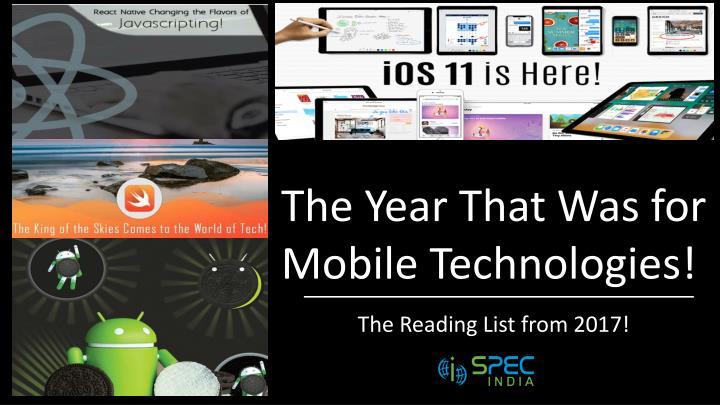 the year that was for mobile technologies n.