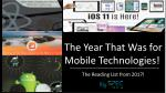the year that was for mobile technologies