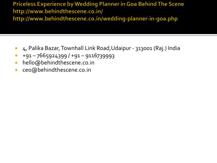 priceless experience by wedding planner n.