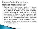 gummy smile correction mohnish mohan mukkar