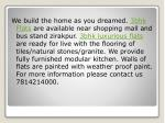 we build the home as you dreamed 3bhk flats