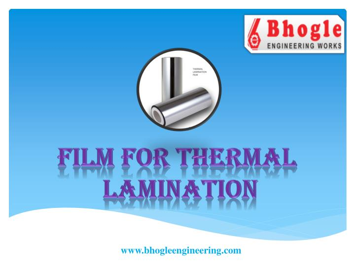 film for thermal lamination n.