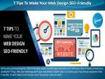 7 tips to make your web design seo friendly