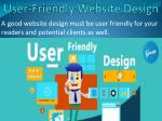 user friendly website design