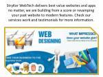 stryker webtech delivers best value websites