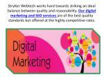 stryker webtech works hard towards striking
