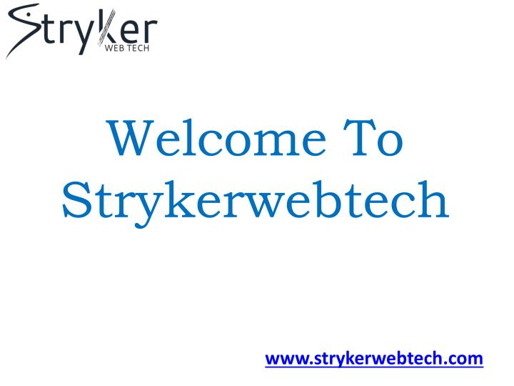 welcome to strykerwebtech n.