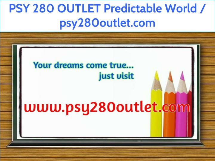 psy 280 outlet predictable world psy280outlet com n.