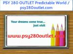 psy 280 outlet predictable world psy280outlet com