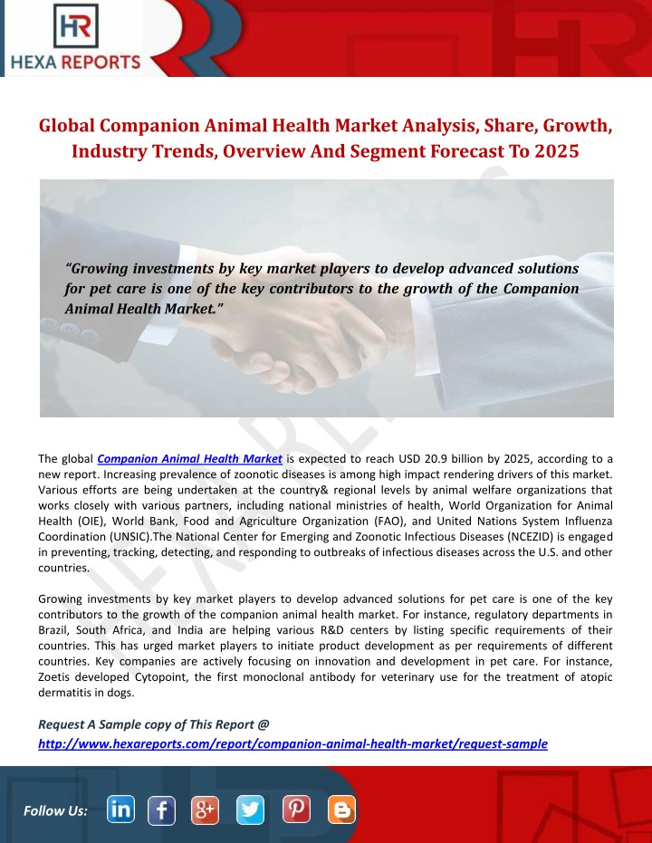 global companion animal health market analysis n.