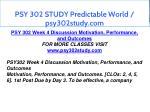 psy 302 study predictable world psy302study com 12