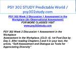 psy 302 study predictable world psy302study com 7