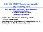 psy 302 study predictable world psy302study com 8