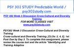 psy 302 study predictable world psy302study com 9