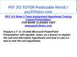 psy 315 tutor predictable world psy315tutor com 16