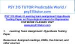 psy 315 tutor predictable world psy315tutor com 20