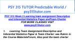 psy 315 tutor predictable world psy315tutor com 8