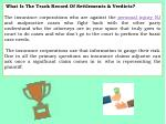 what is the track record of settlements verdicts