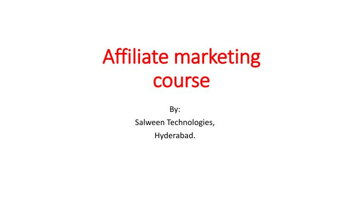 affiliate marketing course n.