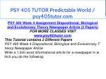 psy 405 tutor predictable world psy405tutor com 13