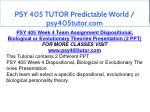 psy 405 tutor predictable world psy405tutor com 16