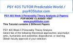 psy 405 tutor predictable world psy405tutor com 20