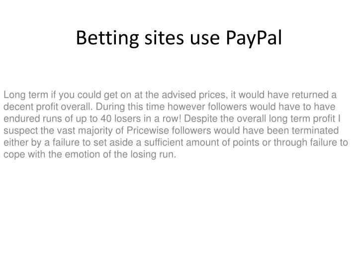 betting sites use paypal n.