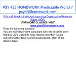 psy 435 homework predictable world psy435homework 17