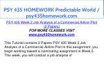 psy 435 homework predictable world psy435homework 8