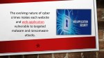 the evolving nature of cyber crimes makes each