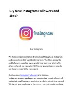 buy new instagram followers and likes