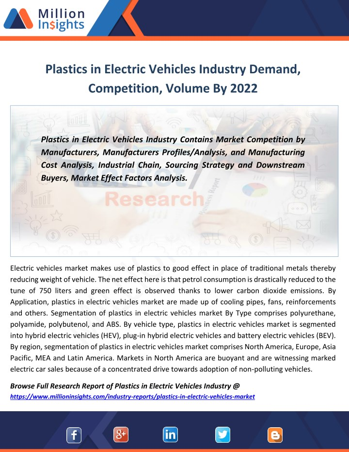 plastics in electric vehicles industry demand n.