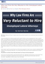 why law firms are very reluctant to hire