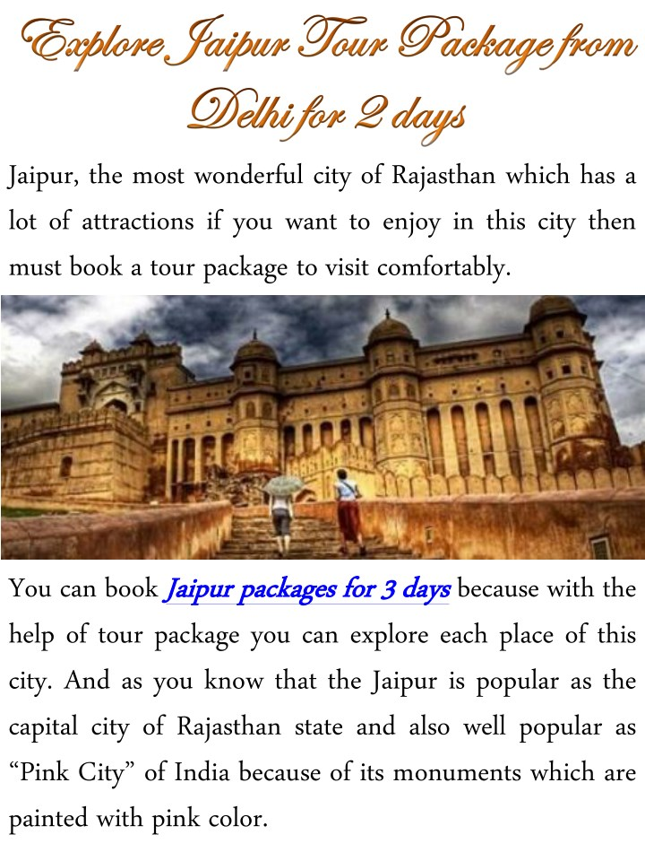 jaipur the most wonderful city of rajasthan which n.