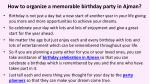 how to organize a memorable birthday party in ajman 2