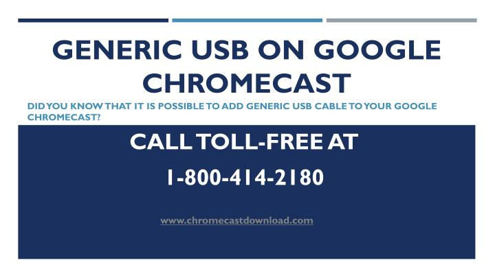 generic usb on google chromecast n.