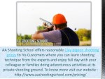 aa shooting school offers reasonable clay pigeon
